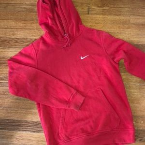 Nike Red Hoodie (size small)